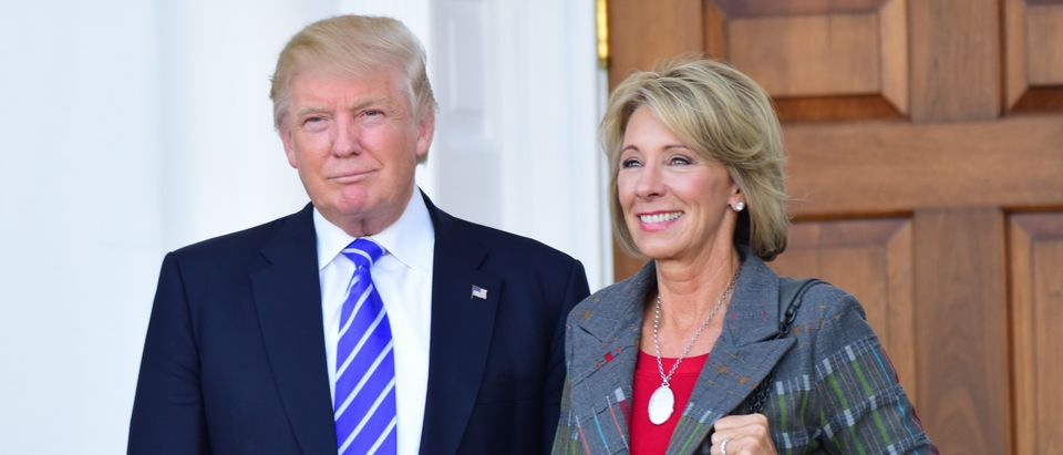 Betsy Devos with President Trump