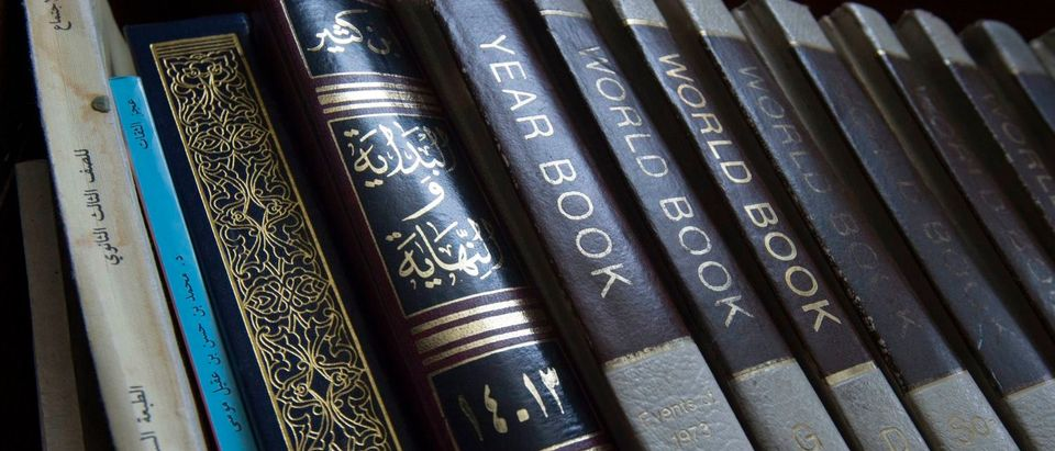 "A collection of books is seen in the Islamic Center's library during a town hall meeting by the Council on American-Islamic Relations(CAIR) at the Dar Al-Hijrah Islamic Center March 17, 2017, in Falls Church, Virginia, where local Muslims met with immigration attorneys, experts in immigration, and Virginia Attorney General Mark Herring regarding the Trump administration's ""Muslim Ban 2.0"". / AFP PHOTO / PAUL J. RICHARDS (Photo credit should read PAUL J. RICHARDS/AFP/Getty Images)"