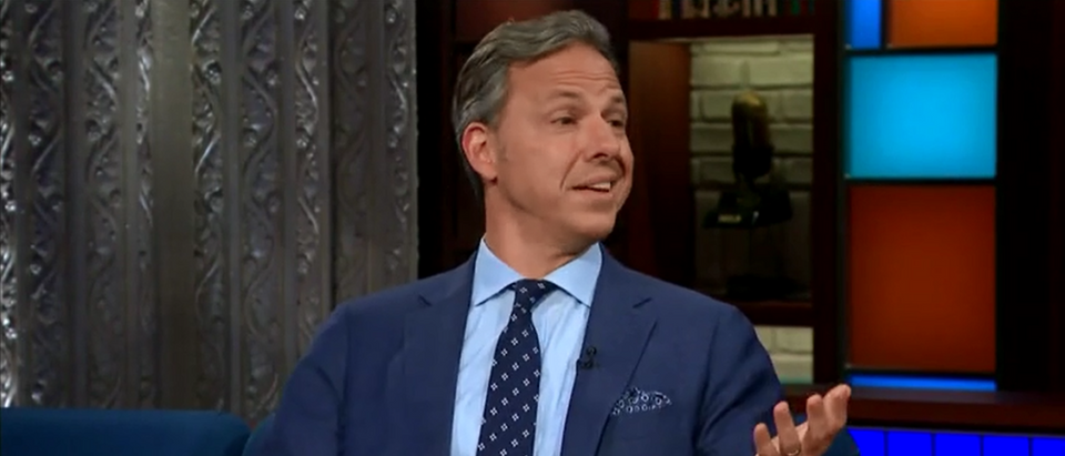 CNN's Jake Tapper Calls Mueller Probe Critics 'Unpatriotic' On Colbert - CBS Late Show - 7-26-18