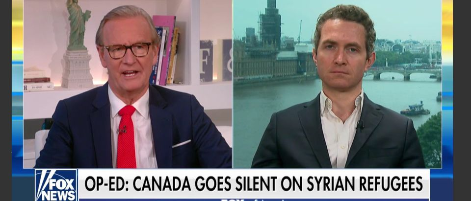"""Douglas Murray, author of """"The Strange Death of Europe,"""" is interviewed on Fox & Friends, July 20, 2018. Fox News screenshot."""