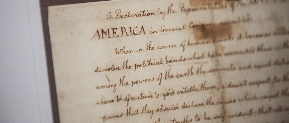 New York Public Library Displays Copy Of The Declaration Of Independence