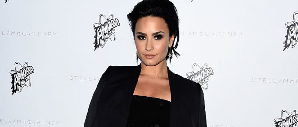 Actress Demi Lovato attends Stella McCartney Autumn 2016 Presentation at Amoeba Music on January 12, 2016 in Los Angeles, California. (Photo by Frazer Harrison/Getty Images)