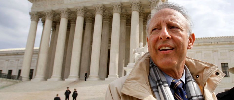 Dick Anthony Heller is pictured outside the Supreme Court in Washington