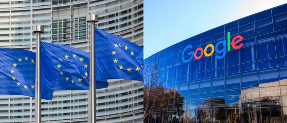 EuropeanUnionFlagsGoogleLogoHeadquarters