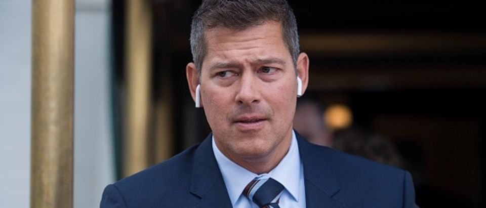 UNITED STATES - APRIL 17: Rep. Sean Duffy, R-Wis., leaves a meeting of the GOP Conference at the Capitol Hill Club on April 17, 2018. (Photo By Tom Williams/CQ Roll Call)