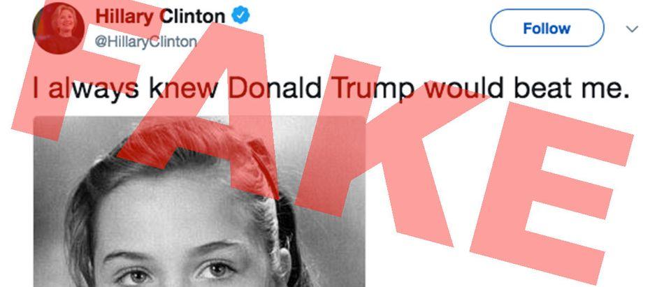 Fake Hillary Clinton Tweet