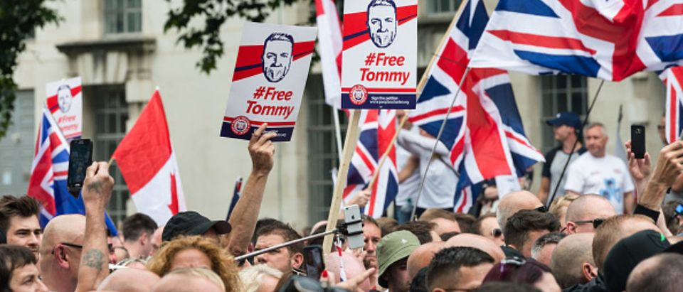 Free Tommy Robinson' Protest In London