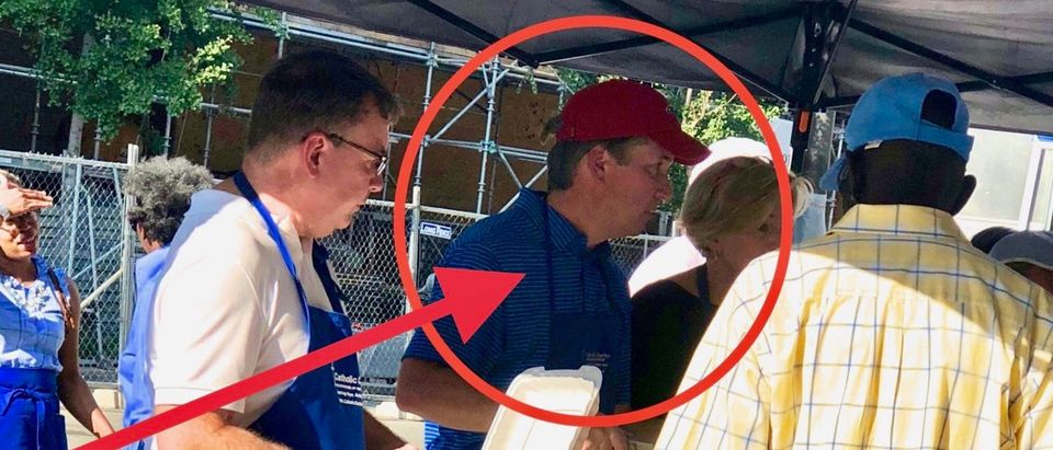 Judge Brett Kavanaugh is feeding the homeless just days after his Supreme Court nomination. (Photo Credit: The Daily Caller News Foundation)