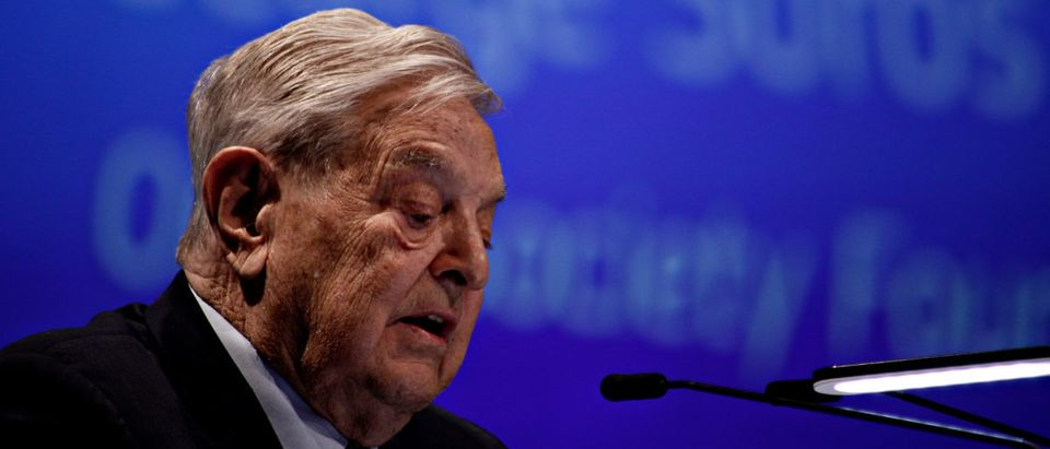 Pictured is George Soros. (Shutterstock/Alexandros Michailidis)
