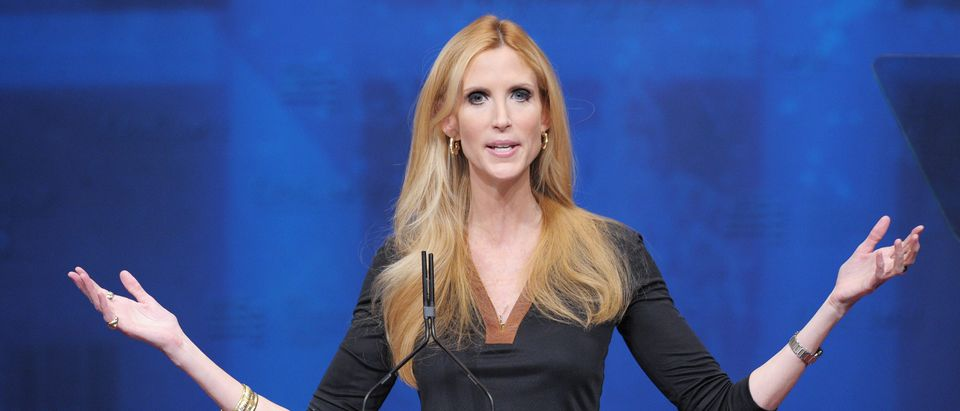 Author Ann Coulter speaks during an addr