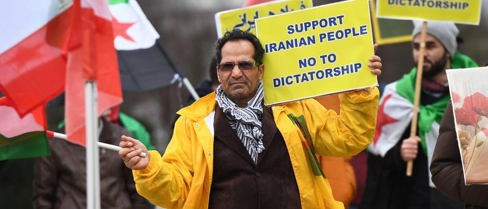 BELGIUM-IRAN-UNREST-DEMO