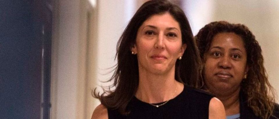 Lisa Page, former legal counsel to former FBI Director Andrew McCabe, arrives on Capitol Hill July 13, 2018 to provide closed-door testimony about the texts critical of Donald Trump that she exchanged with her FBI agent lover during the 2016 presidential campaign. (Photo: ANDREW CABALLERO-REYNOLDS/AFP/Getty Images)