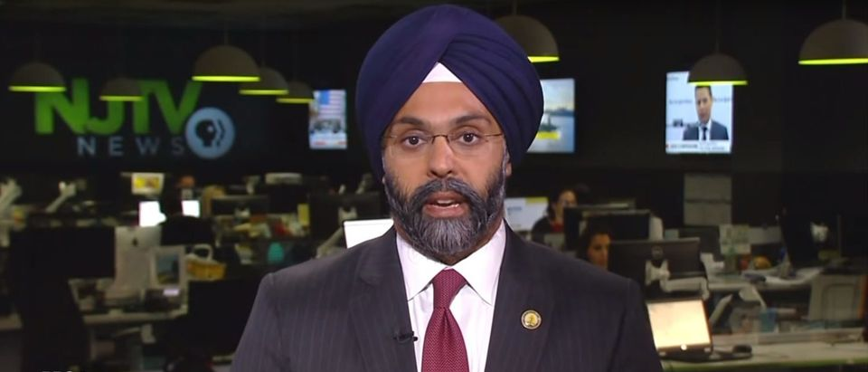 Pictured is Attorney General Gurbir Grewal. (YouTube screenshot/PBS NewsHour)