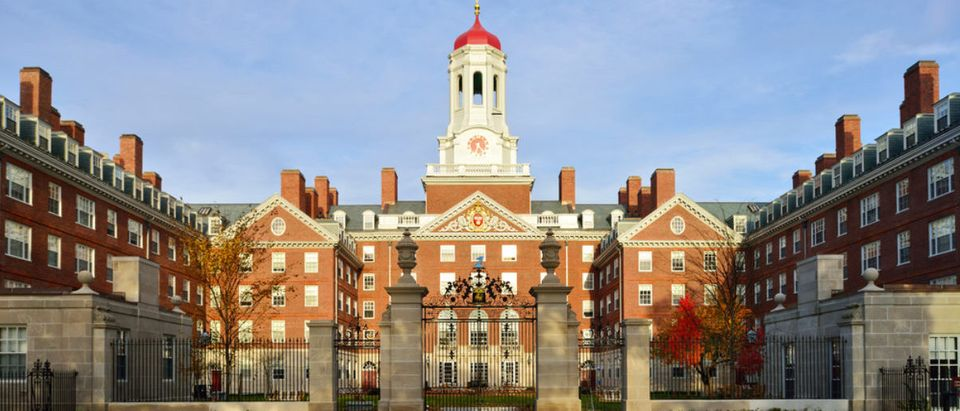Here's Dunster House at Harvard in the fall. (Shutterstock/Jorge Salcedo)