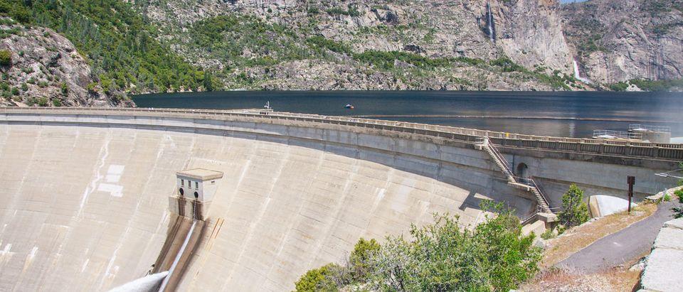 Pictured is Hetch Hetchy Dam In Yosemite National Park. (Shutterstock/Radoslaw Lecyk)
