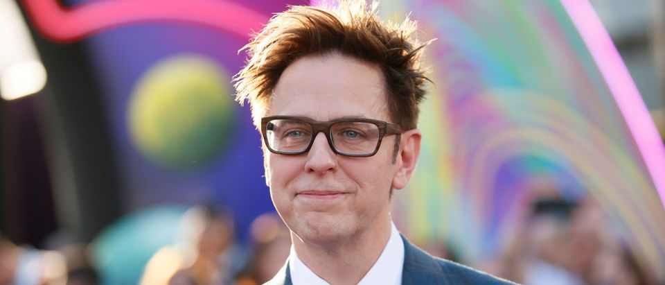 "Writer and director James Gunn poses at the world premiere of Marvel Studios' ""Guardians of the Galaxy Vol. 2."" in Hollywood, California"