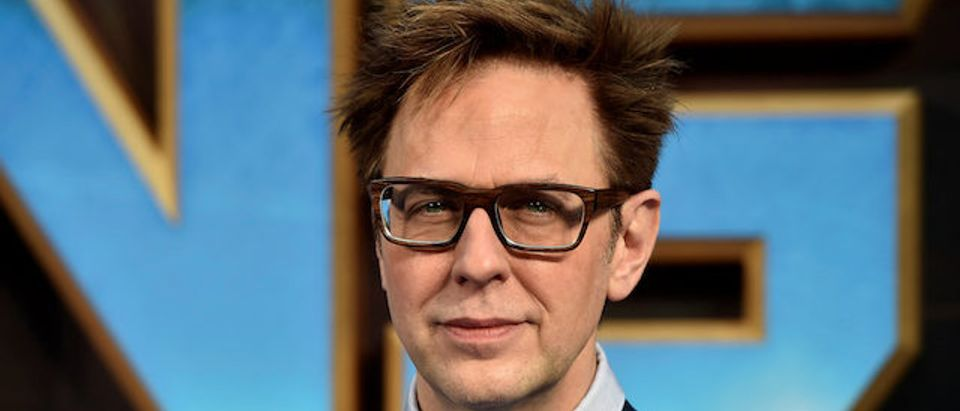 "Director James Gunn attends a premiere of the film ""Guardians of the galaxy, Vol. 2"" in London."