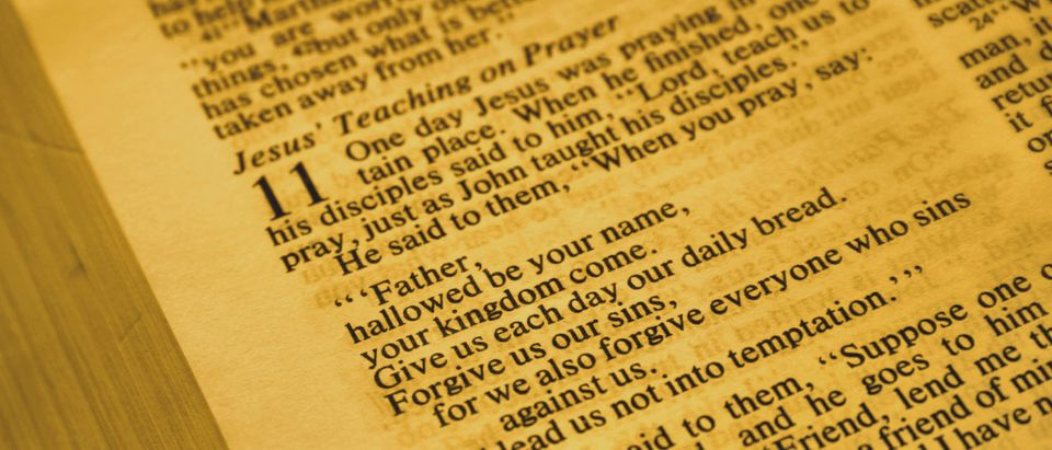 Jesus' Teaching On Prayer (Shutterstock/