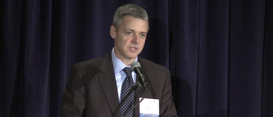 Judge Raymond Kethledge speaks at a Federalist Society event in Nov. 2016. (YouTube screenshot:Federalist Society)