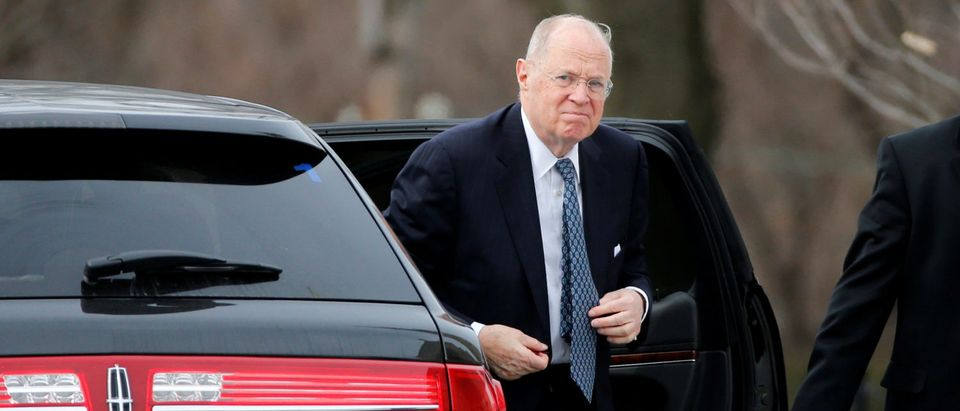 FILE PHOTO: U.S. Supreme Court Associate Justice Kennedy arrives for the funeral of fellow justice Scalia at the Basilica of the National Shrine of the Immaculate Conception in Washington