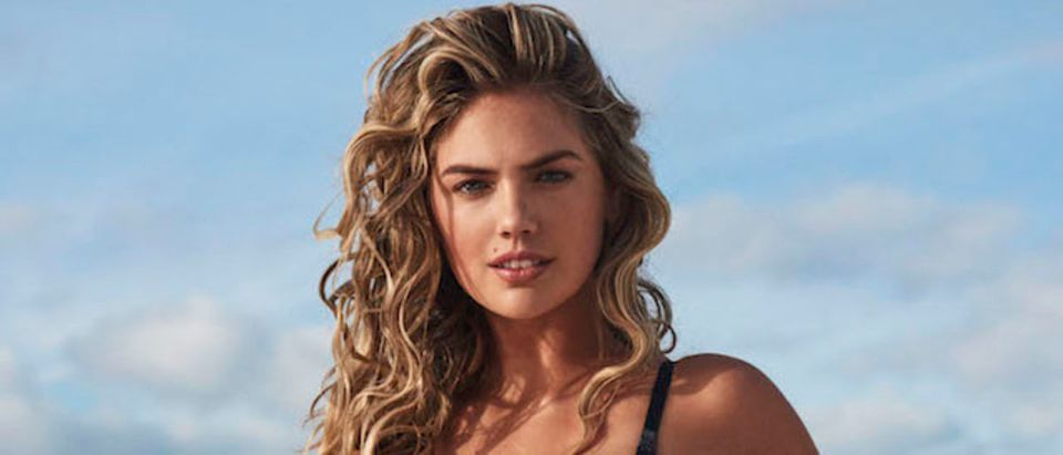 Bikini beauty Kate Upton models Yamamay's Sculpt Collection for Summer 2018. Kate posed in the Italian lingerie and beachwear company's lycra stretch swimsuits for photographer Giampaolo Sgura. Pictured: Kate Upton Picture by: Yamamay/Splash News