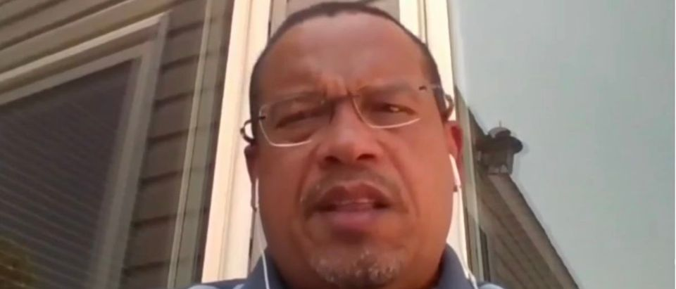 "Keith Ellison talks about the ""injustice"" created by national borders [Photo: Screenshot/YouTube]"