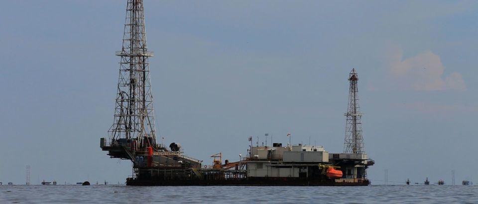 Oil facilities are seen on Lake Maracaibo in Lagunillas