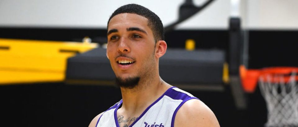 LOS ANGELES, CA - MAY 29: LiAngelo Ball #2 walks on the court during the Los Angeles Lakers 2018 NBA Pre-Draft Workout on May 29, 2018 in Los Angeles, California. (Photo by Jayne Kamin-Oncea/Getty Images)