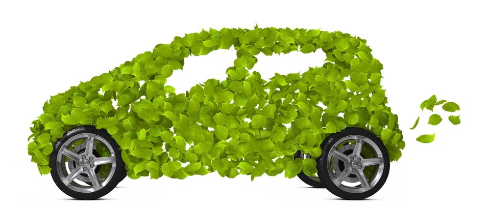 Green Leaves Car. Go Green- Concept. (Media credit Graphic Compressor/Shutterstock )