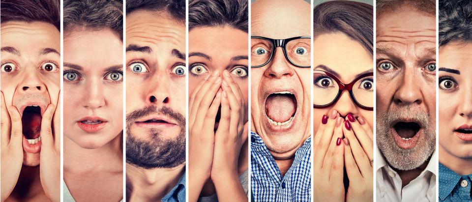 Lots of afraid faces are pictured. (Shutterstock/pathdoc)