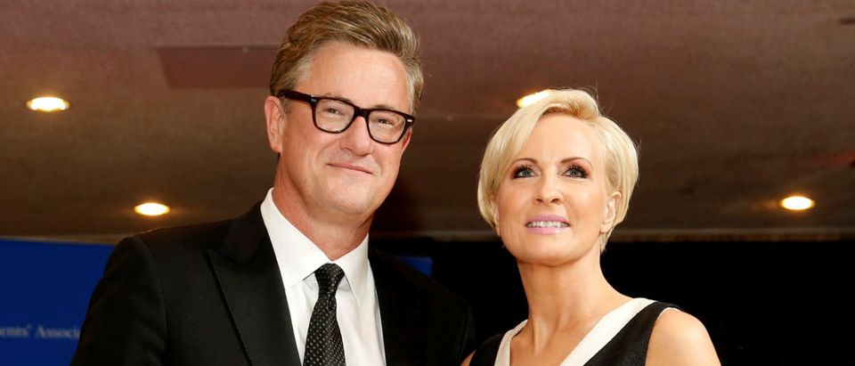 FILE PHOTO: MSNBC's Scarborough and Brzezinski arrive for the annual White House Correspondents' Association dinner in Washington