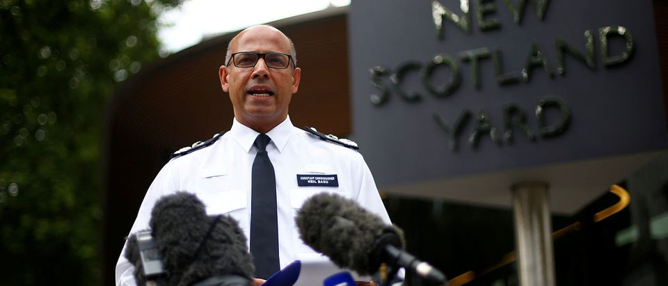 Britain's Assistant Police Commissioner for Specialist Operations, Neil Basu, delivers a statement to the media regarding the poisoning of two people in Salisbury, at New Scotland Yard in London, Britain, July 9, 2018. REUTERS/Henry Nicholls/File Photo