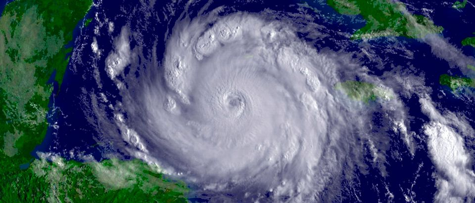 NOAA satellite image of Hurricane Dean from August 20, 2007.