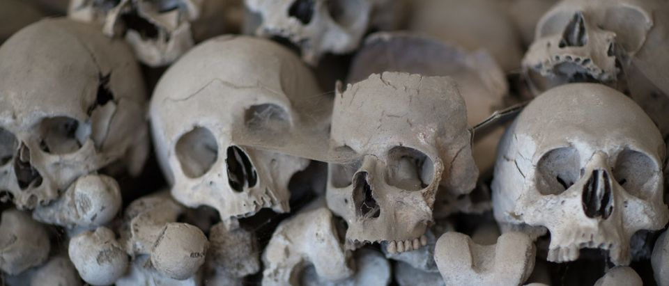 Skulls in a church ossuary (Shutterstock/Sviluppo)