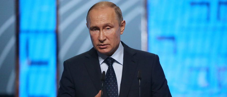 Russian President Vladimir Putin Visits The Moscow Urban Forum 2018