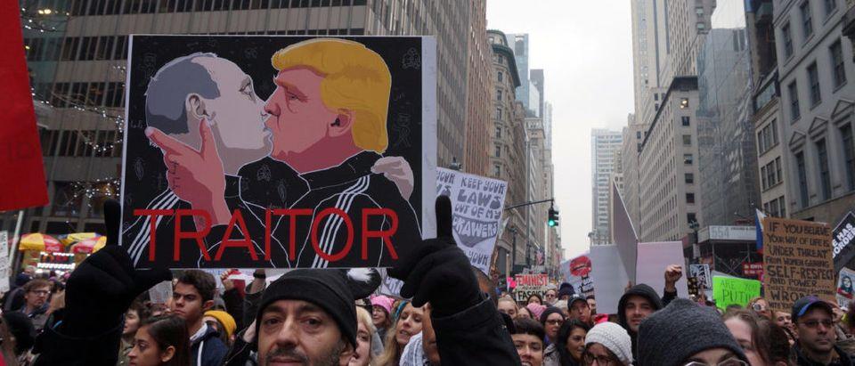 Post Putin Anti Trump Protest