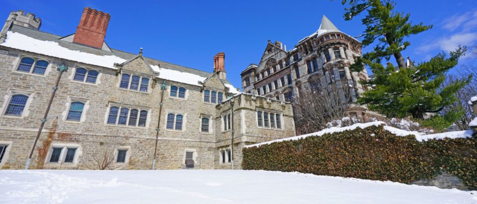 Here is a view of the campus of Princeton University, New Jersey, under snow after a winter storm. (Shutterstock/EQRoy)