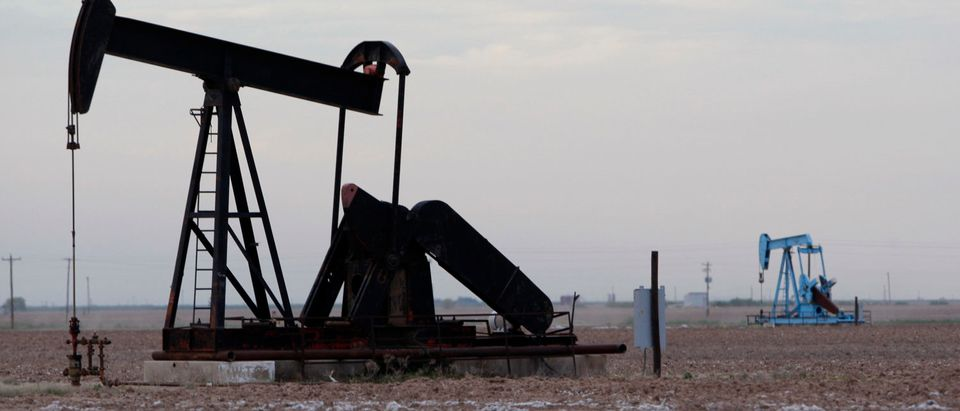 Oil rigs are seen in Midland