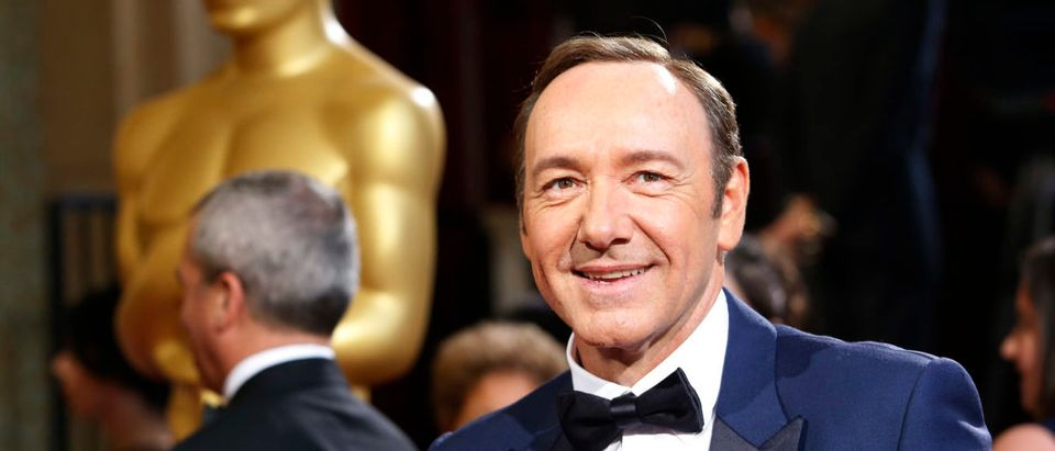Actor and presenter Kevin Spacey arrives at the 86th Academy Awards in Hollywood