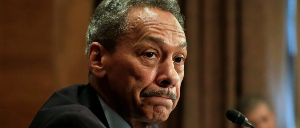 Federal Housing Finance Agency Director Mel Watt testifies before a Senate Banking Committee hearing on 'The Status of the Housing Finance System After Nine Years of Conservatorship' on Capitol Hill in Washington, U.S., May 11, 2017. REUTERS/Yuri Gripas