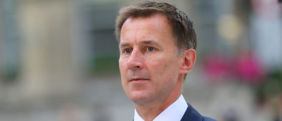 Britain's then-Secretary of State for Health and Social Care Jeremy Hunt arrives at the BBC in central London, Britain, July 9, 2018. REUTERS/Simon Dawson