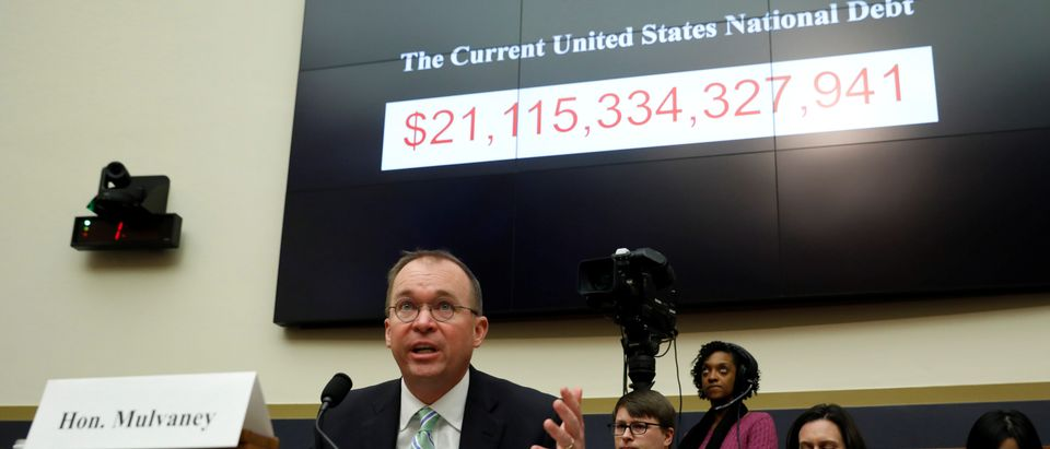 Office of Management and Budget Director Mick Mulvaney, acting CFPB director, testifies before a House Financial Services Committee hearing on the Consumer Financial Protection Bureau's (CFPB) semi-annual report to Congress on Capitol Hill in Washington