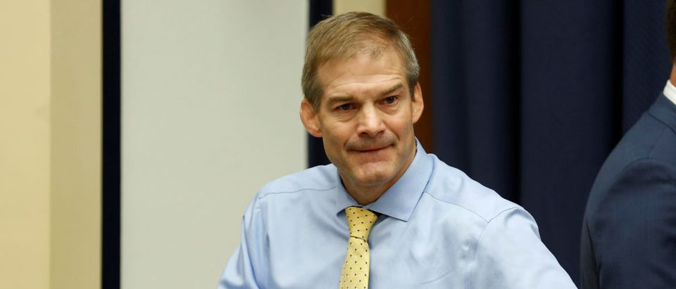 """Rep. Jim Jordan (R-OH) arrives before FBI Deputy Assistant Director Peter Strzok testified before the House Committees on the Judiciary and Oversight & Government Reform joint hearing on """"Oversight of FBI and DOJ Actions Surrounding the 2016 Election in Washington, U.S., July 12, 2018. REUTERS/Joshua Roberts"""