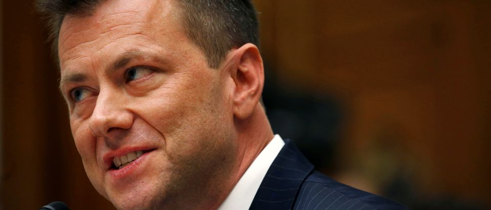 "FBI Deputy Assistant Director Peter Strzok testifies before the House Committees on Judiciary and Oversight and Government Reform joint hearing on ""Oversight of FBI and DOJ Actions Surrounding the 2016 Election"" in the Rayburn House Office Building in Wash"