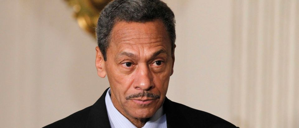 Democratic Representative Mel Watt looks on as U.S. President Barack Obama announces him as his nominee for director of the Federal Housing Finance Agency, at the State Dining Room of the White House in Washington, May 1, 2013. REUTERS/Jason Reed
