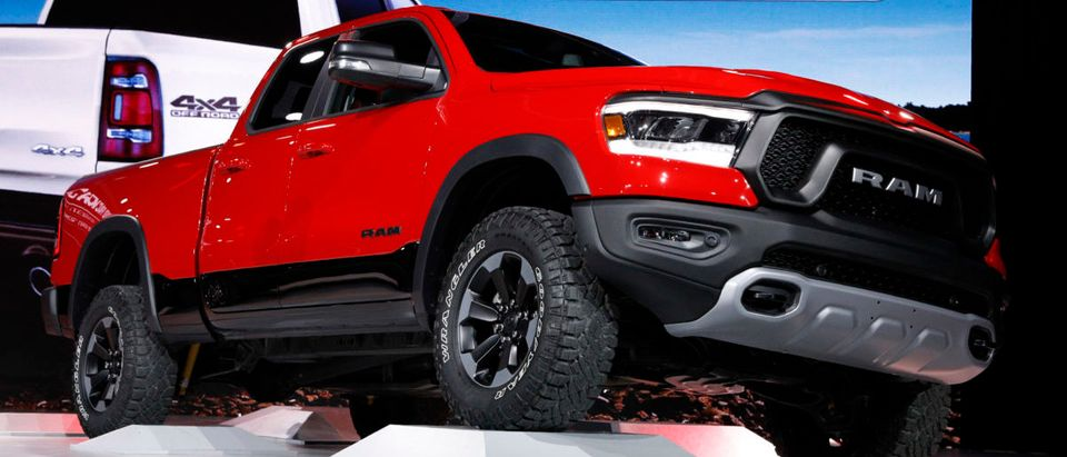 2019 Dodge Ram 1500 Rebel pickup truck is displayed at the North American International Auto Show in Detroit