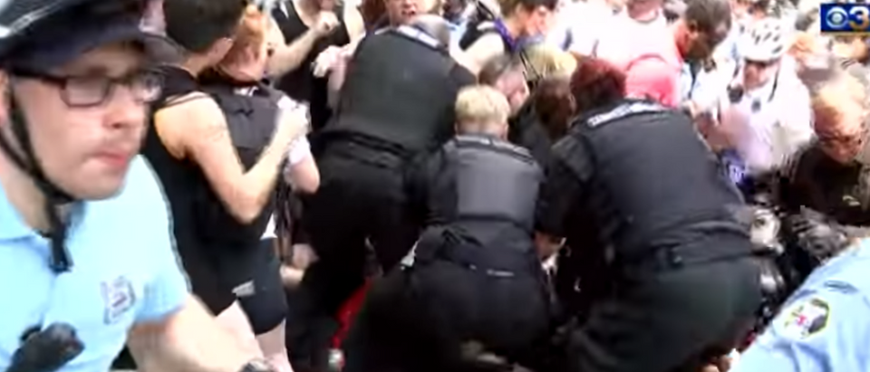Screen Shot:Youtube:Philadelphia:Abolish ICE Protest