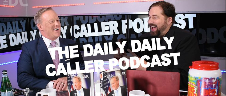 Former White House press secretary Sean Spicer speaks during an interview published Friday, July 27, 2018, with Derek Hunter of The Daily Daily Caller Podcast. (Photo: Screenshot/The Daily Caller Video)