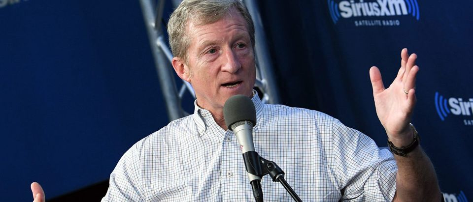 NEW YORK, NY - JANUARY 17: Philanthropist and Democratic activist Tom Steyer discusses his political future at SiriusXM's Progress channel at SiriusXM Studios on January 17, 2018 in New York City. (Photo by Slaven Vlasic/Getty Images for SiriusXM)