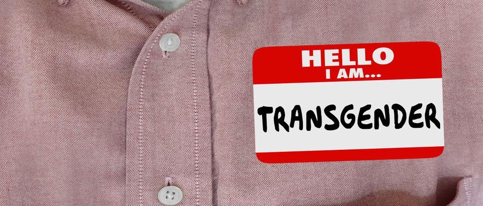 Transgender name sticker